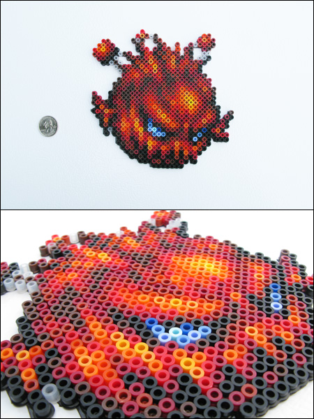 Final Fantasy 6 Bomb Bead Sprite Magnet