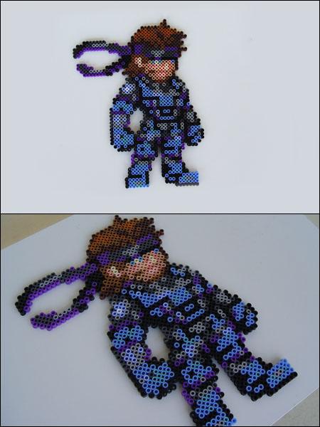 Metal Gear Solid Snake Bead Sprite Magnet