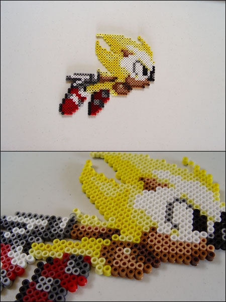 Sonic the Hedgehog Super Sonic Bead Sprite Magnet