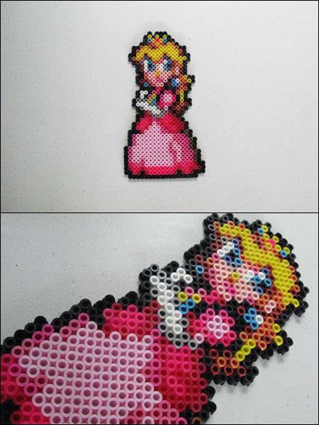Super Mario Custom Peach Bead Sprite Magnet
