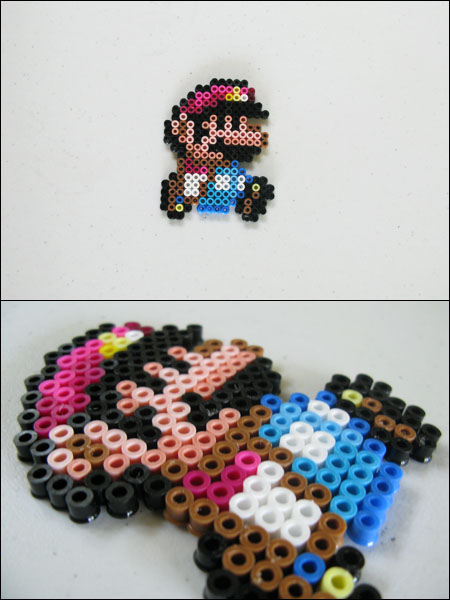 Super Mario World Small Mario Bead Sprite Magnet